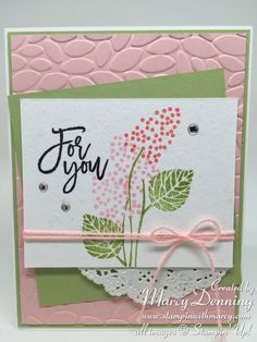 by Marcy: Thoughtful Branches, Petal Burst embossing folder - all from Stampin' Up!