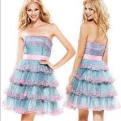 Betsey Johnson Blue And Pink Cupcake Dress
