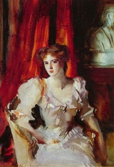 """Miss Eden"" by John Singer Sargent - 1905. Watercolor, no joke.    Watercolor!"