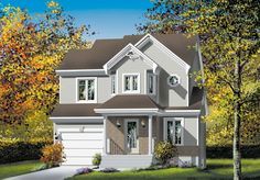 Two Story Cutie - 80509PM | Architectural Designs - House Plans