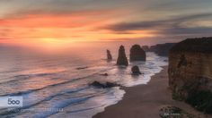Pillars of Destruction Sunset over the 12 apostles great ocean road Austalia