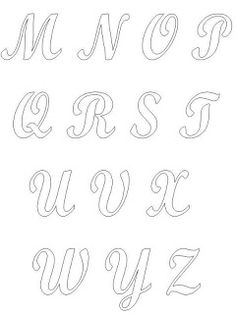 Ateliê Ponto & Patch: Moldes de Letras ou Alfabetos para Patchcolagem Cursive Tattoos, Diy And Crafts, Crafts For Kids, Church Bulletin Boards, Creative Lettering, Beautiful Fonts, Writing Styles, Printable Coloring Pages, String Art