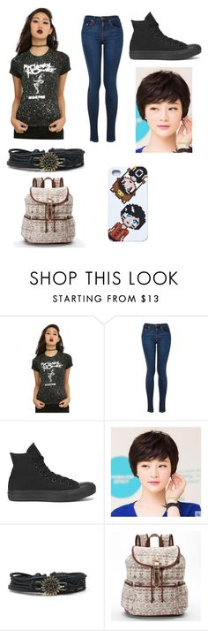 """""""Kiley ☕️"""" by lexi2296 ❤ liked on Polyvore featuring Converse, Sankins and Candie's"""