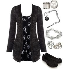 A fashion look from July 2014 featuring CO dresses, Lipsy cardigans and Accessorize flats. Browse and shop related looks.