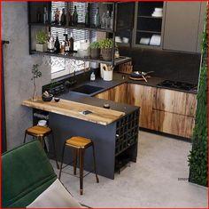 Industrial Kitchen Design, Kitchen Room Design, Home Room Design, Modern Kitchen Design, Home Decor Kitchen, Interior Design Kitchen, Kitchen Furniture, Home Kitchens, Urban Kitchen