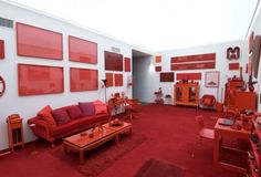Masterfully Monochromatic: Red, White & Blue Rooms — American Style