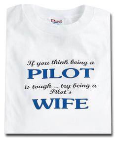 PILOT'S WIFE T-SHIRT MEDIUM at CrewGear