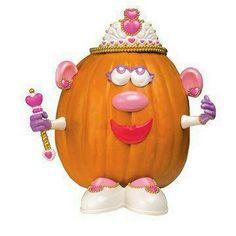Halloween Decorated Pumpkin: Potato Head, princess