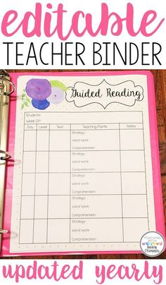 Are you a classroom teacher struggling to stay organized? Is your desk overflowing with parent information, documentation, and lesson plans? This download has hundreds of editable pages to help you customize your perfect teacher binder!