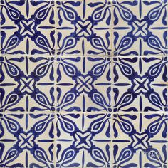 Abeille Blue Mosaic House Hand Painted Tile