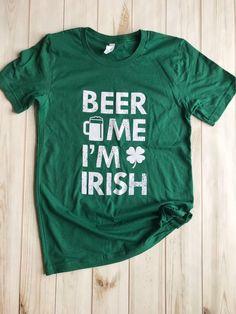 FECK ME I/'M IRISH IRELAND PADDYS DAY HAPPY ST PATRICKS TSHIRT GLOW IN THE DARK