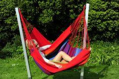 NewLine Lounger hangmatstoel met Arc standaard