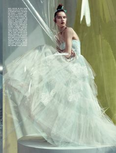 wedding inspiration: Sofia Tesmenitskaya For Italian Vogue Sposa photographed by Sofia Sanchez