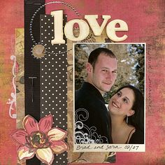 scrapbook layouts for couples