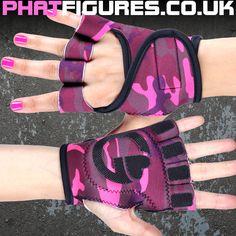 Pink Camo Gym Gloves