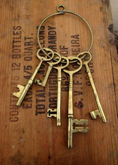 Cast Brass Skeleton Keys and Hanging Ring Skeleton Keys, It Cast, Brass, Display, This Or That Questions, Dracula, Ring, Handmade, Stuff To Buy