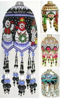 Patterns to Bead Heirloom Ornaments Deb MoffettHall  beading