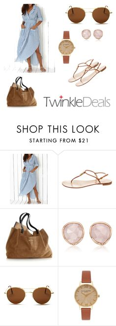 """""""Perfect summer outfit !!!"""" by hanakalesic ❤ liked on Polyvore featuring Giuseppe Zanotti, Monica Vinader, Illesteva and Olivia Burton"""