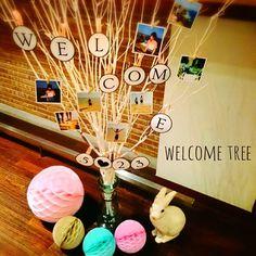 木の枝を可愛くデコレーション♩『ウェルカムツリー』でゲストをお迎えしたい♡にて紹介している画像