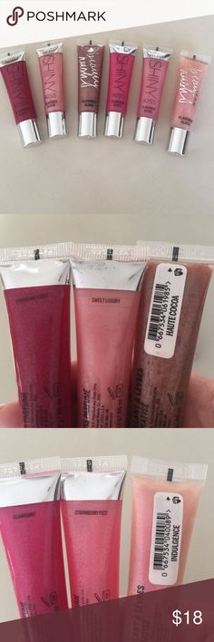 Victoria Secret Lip Gloss Bundle Victoria secret lip gloss bundle in indulgence, glamberry, strawberry fizz, haute cocoa, sweet luxury and sparkling cider..full tubes swatched only ! Victoria Secret Makeup Lip Balm & Gloss