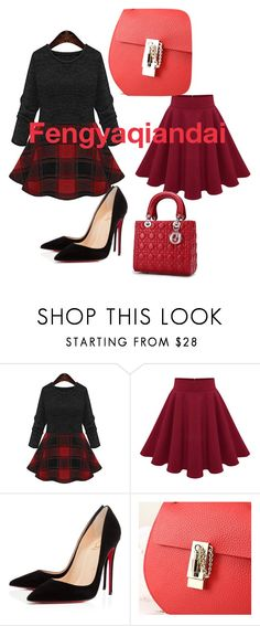 """""""Fengyaqiandai genuine leather bags20151226001"""" by houseofhello on Polyvore featuring Christian Louboutin"""
