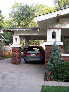 Porte-Cochere!  Aha, the Ogden city planner taught me the name for the 1920s carport thingy we have over our driveway!