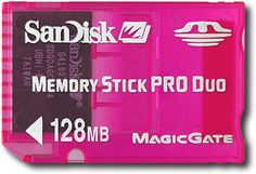 """""""SanDisk - 128MB Memory Stick PRO Duo Gaming Memory Card - Pink"""" on Purchx"""