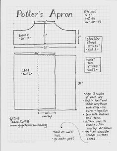 Potter's Apron sewing guide