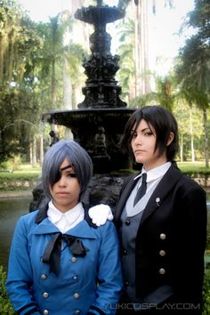 Sebastian (*Yukilefay) and Ciel (*Dih Saitou) from Black Butler #Kuroshitsuji #anime #cosplay