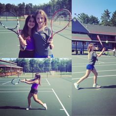 The junior girls are playing lots of fun games in tennis today! #losetenandspin #earningpoints #playing #singles #opponents #endlesscampfun