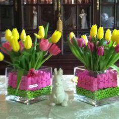 Easter peeps centerpiece!