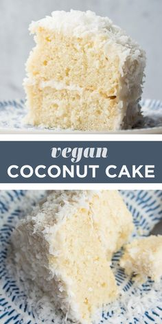 Vegan Cream Cheese Frosting, Coconut Frosting, Vegan Treats, Vegan Foods, Cookie Dough Vegan, Vegan Coconut Cake, Recipe For Coconut Cake, Vegan Coconut Macaroons Recipe, Coconut Recipes Vegan