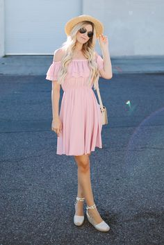 alpargatas com vestido rosa
