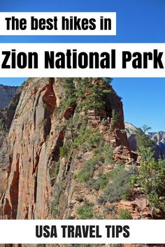 The best hikes in Zion National Park in Utah. From short to long and from easy to strenuous, in this guide you'll find something for everyone!