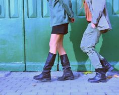Militar Way! #StreetStyle #JohanssonSisters #IN2ITIONSTYLE #Boots Looks Street Style, Knee Boots, Army, Fashion, Gi Joe, Moda, Military, Fashion Styles, Knee Boot