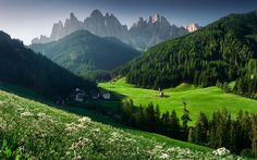 Download wallpapers Dolomites, mountains, village, Europe, San Giovanni, Italy