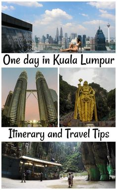 Travel tips and what to do in one day in Kuala Lumpur, Malaysia! Itinerary and how to make the most of your 24 hours in KL. Hotel tips and how to get around Kuala Lumpur.  via @loveandroad
