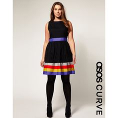 Me encanta este atuendo. Asos Curve Dress With Ribbon Trim