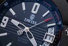 DWISS emme SIVER BLACK, contemporary luxury swiss watch manufacture Wolf Design, Swiss Watch, Clock, Watches, Luxury, Contemporary, Watch, Clocks, The Hours