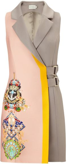 Love this: Mary Katrantzou Beta Dress Racer Mushroom Pink @Lyst
