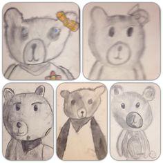 """""""Nalle"""" (2.lk) Hiilipiirros. (Alakoulun aarreaitta FB -sivustosta / Jaana Piippo) Easy Art Projects, Simple Art, Teddy Bear, Animals, Animales, Animaux, Teddy Bears, Animal Memes, Animal"""