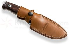 "LionSteel M5 Hunter Fixed 4.53"" Satin Sleipner Plain Blade, Santos Wood Handles, Leather Sheath - KnifeCenter - M5 ST"