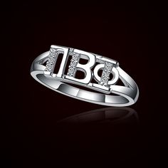 Pi Beta Phi Silver Ring (PBP-R001) - $35.00