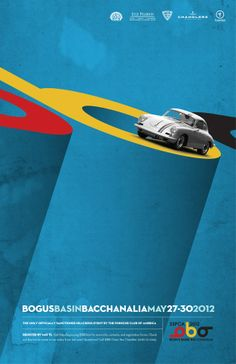 Porsche Club Hillcross Event Poster - Jeff Harder