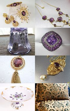 Amethyst and Gold - A Vogue Team Treasury by Cleaver White on Etsy--TreasuryPin.com #voguet #epsteam