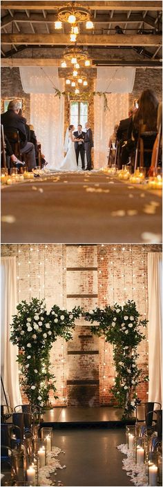 rustic country industrial wedding ceremony backdrop ideas #weddings #weddingideas #countryweddings