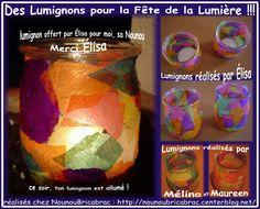 Lumignons pour la fête de la Lumière... Merci Nounou Françoise