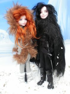 Monster High Game of Thrones Jon Snow n Ygritte by ~Rach-Hells-Dollhaus on deviantART
