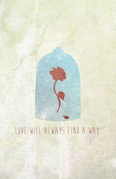 Amour de conte de fées inspiré Poster la par poisonoakcreative