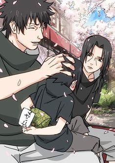 Shisui Itachi and little Sasuke Uchiha #Naruto